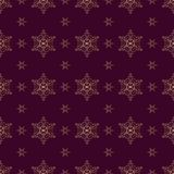 Seamless pattern Gold ornament on a brown background  Merry Christmas and Happy New Yea  53