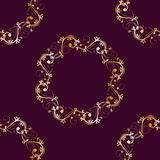 Seamless pattern Gold ornament on a brown background  Merry Christmas and Happy New Yea  55
