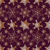Seamless pattern Gold ornament on a brown background  Merry Christmas and Happy New Yea  57