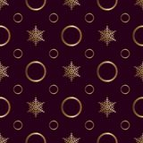 Seamless pattern Gold ornament on a brown background  Merry Christmas and Happy New Yea 49
