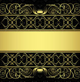 Seamless pattern and gold ornaments Stock Photos