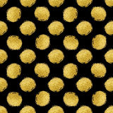 Seamless pattern gold polka dot Royalty Free Stock Images