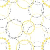 Seamless pattern of gold and silver chains stock illustration