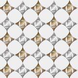 Seamless pattern gold and silver. Royalty Free Stock Images