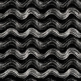 Seamless pattern of gold and silver wavy stripes Royalty Free Stock Photography