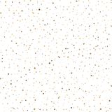 Seamless pattern with gold sparkles on white background. Vector.  Royalty Free Stock Images