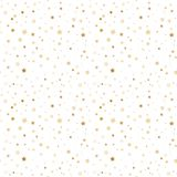 Seamless pattern with gold stars. White background Royalty Free Stock Images