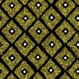 Seamless pattern gold tribal background with glitter texture. Ab Royalty Free Stock Photography