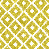 Seamless pattern gold tribal background with glitter texture. Ab Royalty Free Stock Photos