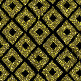 Seamless pattern gold tribal background with glitter texture. Ab Royalty Free Stock Photo