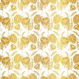 Seamless pattern with gold leaf, autumn leaves background. Vector, EPS10. vector illustration