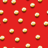 Seamless pattern with golden beads Stock Images