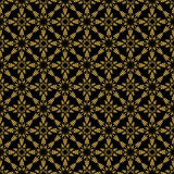 Seamless pattern. Golden on black. Stock Images
