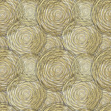 Seamless pattern with golden circle. Vector illustration royalty free illustration