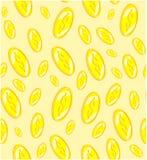 Seamless pattern golden coins, vector illustration royalty free illustration