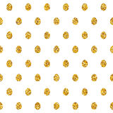 Seamless Pattern With Golden Eggs Royalty Free Stock Photos