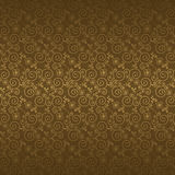 Seamless pattern with golden flowers Stock Photos