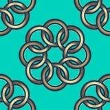 Seamless pattern. Golden flowers on an green background. vector illustration