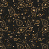 Seamless pattern with golden indian elements Stock Images