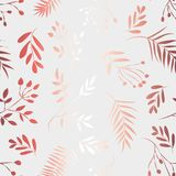 Pattern of golden leaves on a white background vector illustration
