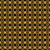 Seamless pattern. Golden mail on black background. royalty free stock image