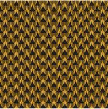 Seamless pattern. Golden mail on black background. stock images