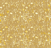 Seamless pattern Golden Meadow. Royalty Free Stock Images