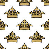 Seamless pattern of golden royal Royalty Free Stock Photos