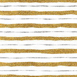 Seamless pattern of golden and silvery lines. Seamless pattern of gold and silver lines, seamless background grunge golden and silver stripes, hand drawn vector Stock Photo