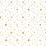 Seamless pattern with golden stars confetti Royalty Free Stock Images