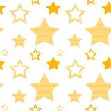 Seamless pattern with golden stars, vector vector illustration
