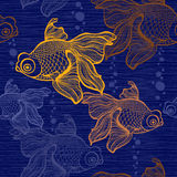 Seamless pattern with goldfish. Royalty Free Stock Photography