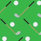 Seamless pattern golf stick and ball Stock Photography