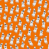 Seamless pattern with gosts Stock Photo