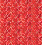 Seamless pattern with gradient red hearts. Romantic red decorative background Royalty Free Stock Photo