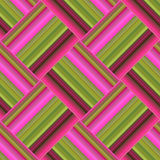Seamless pattern with gradient stripes, made in a geometric text. Ure. Vector illustration Royalty Free Stock Images
