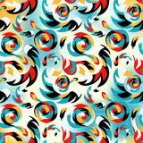 Seamless pattern of graffiti on a bright colored background abstraction Royalty Free Stock Images