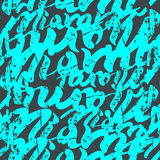 Seamless pattern graffiti. Seamless pattern Miami lettering in graffiti style. Bright blue on grey background Stock Photos