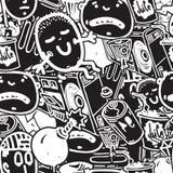 Seamless pattern graffiti Stock Images