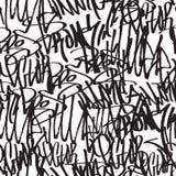 Seamless pattern graffiti Stock Photography