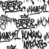 Seamless pattern graffiti Stock Photos