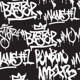 Seamless pattern graffiti Stock Image