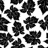 Seamless pattern with grape leafs. Vector Royalty Free Stock Image
