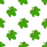Seamless Pattern with grape leaves. Abstract silhouette of maples leaves texture. vector illustration