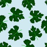 Seamless pattern of grape leaves Royalty Free Stock Photo