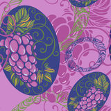 Seamless pattern with grape Stock Image