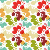 Seamless Pattern with Grape Royalty Free Stock Images