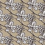 Seamless Pattern of Grape.Vintage Vector. Seamless Pattern of Grape. Vintage Vector illustration Stock Photo