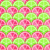 Seamless Pattern with Grapefriuts and Limes Royalty Free Stock Image