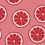 Seamless pattern with grapefruit Royalty Free Stock Image
